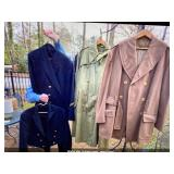WWII dress mess, and officers wool short coat
