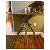 vintage folk art log cabin tables