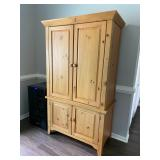 knotty pine armoire