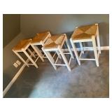 rush cane bar stools