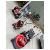 Troy0Bilt mower, Honda pressure washer.