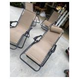 Poolside recliners