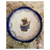antique folk art dish black americana