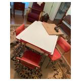 Retro enamel top dinette table and chairs