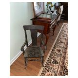 Vintage chairs and area rugs