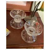 Gorham Crystal candle stick holders