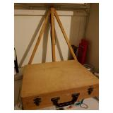 Art Easel and wooden pain box