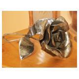 Unique Metal Rose Sculpture