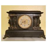 Antique Seth Thomas Mantle Clock with Lion Heads and Claw Feet