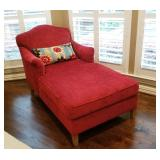 Absolutely BEAUTIFUL (LIKE NEW CONDITION) red chaise lounge