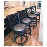 Great Highback, swivel bar stools