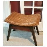 Pier 1 rattan & wood stool