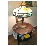Vintage.Antique Slag Glass Lamp