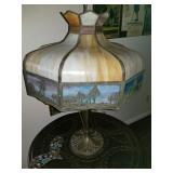 Vintage/ Antique Slag Glass lamp