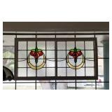 Antique STAINED GLASS Hangings throughout the house