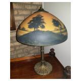 Vintage/ Antique Reverse Paint Lamp