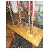 Antique Barley twist candlestick holders