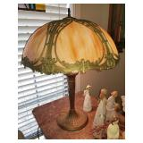 SEVERAL vintage/Antique SLAG GLASS lamps throughout the house