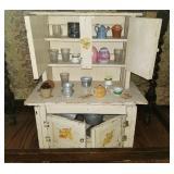 """Child size """"hoosier Cabinet"""""""