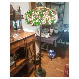 Several stained glass lamps