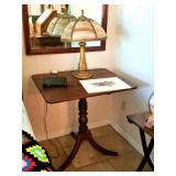MANY antique side tables throughout the house