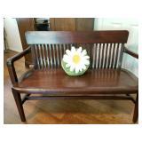 BEATIFUL Antique Mahagony Bench