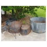 Cast Iron Cauldron & OUTDOOR items