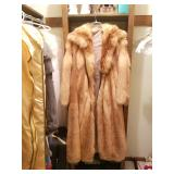 Several full length fur coats