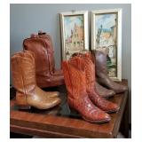 Severalpair of cowboy boots
