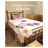 Vintage Full Size Brass Bed