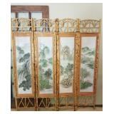 Beautiful 4 panel Asian Screen