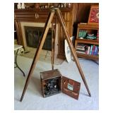 Antique surveyors Transit and Tripod (Homeowner dates it to 1904)