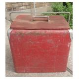 VINTAGE Large metal soda cooler