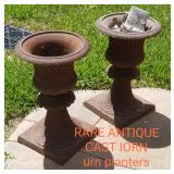 Very cool ANTIQUE CAST IRON urn/ Planters - RARE FIND !!!!