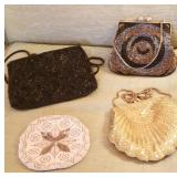 Vintage beaded clutches
