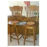 High Back, cane seat bar stools