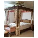 Drexel Queen Size Four Poster Canopy Bed