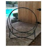 Outdoor metal wood rack