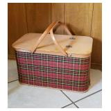 Vintage picnic basket & supplies
