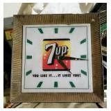 Vintage 7 Up Wall Clock