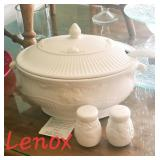 LENOX Butlers Pantry Soup Tureen and Salt & Pepper Shakers