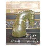 Jade Horse Sculpture
