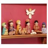 Mid Century Nativity Set