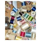 Lots of vintage thread and sewing items