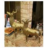 Large BRASS Deer