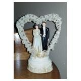 VIntage wedding cake toper