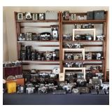 Nearly 100 VINTAGE CAMERAS and EQUIPMENT !!!!!