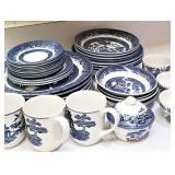 Churchill Blue & White China