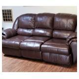 Nice Leather reclining sofa