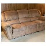 VERY NICE (Yoou have to see in person) micro-suede reclining sofa with matching reclining chair